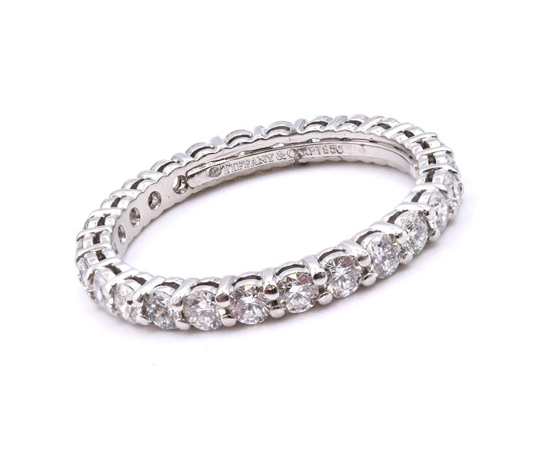 Material: Platinum Diamond: 26 Round Diamonds 0.78cctw Color: G Clarity: VS Ring Size: 4.5  Dimensions 19.5 mm in diameter Weight: 2.36 grams