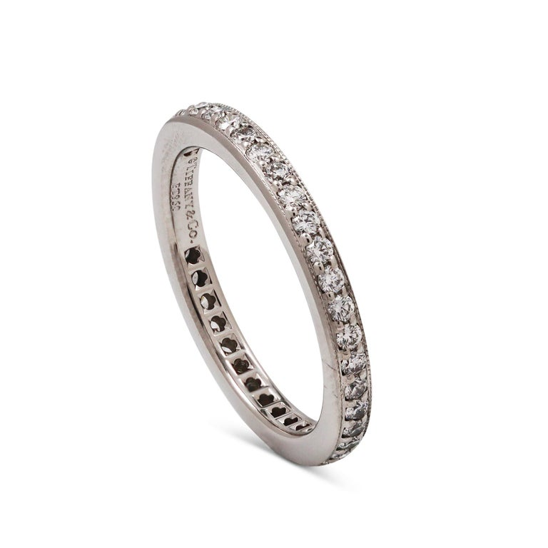 Tiffany & Co. Platinum Diamond Eternity Band In Excellent Condition In New York, NY