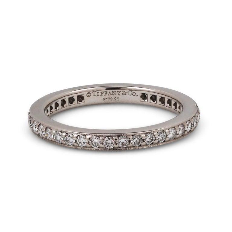 Women's or Men's Tiffany & Co. Platinum Diamond Eternity Band