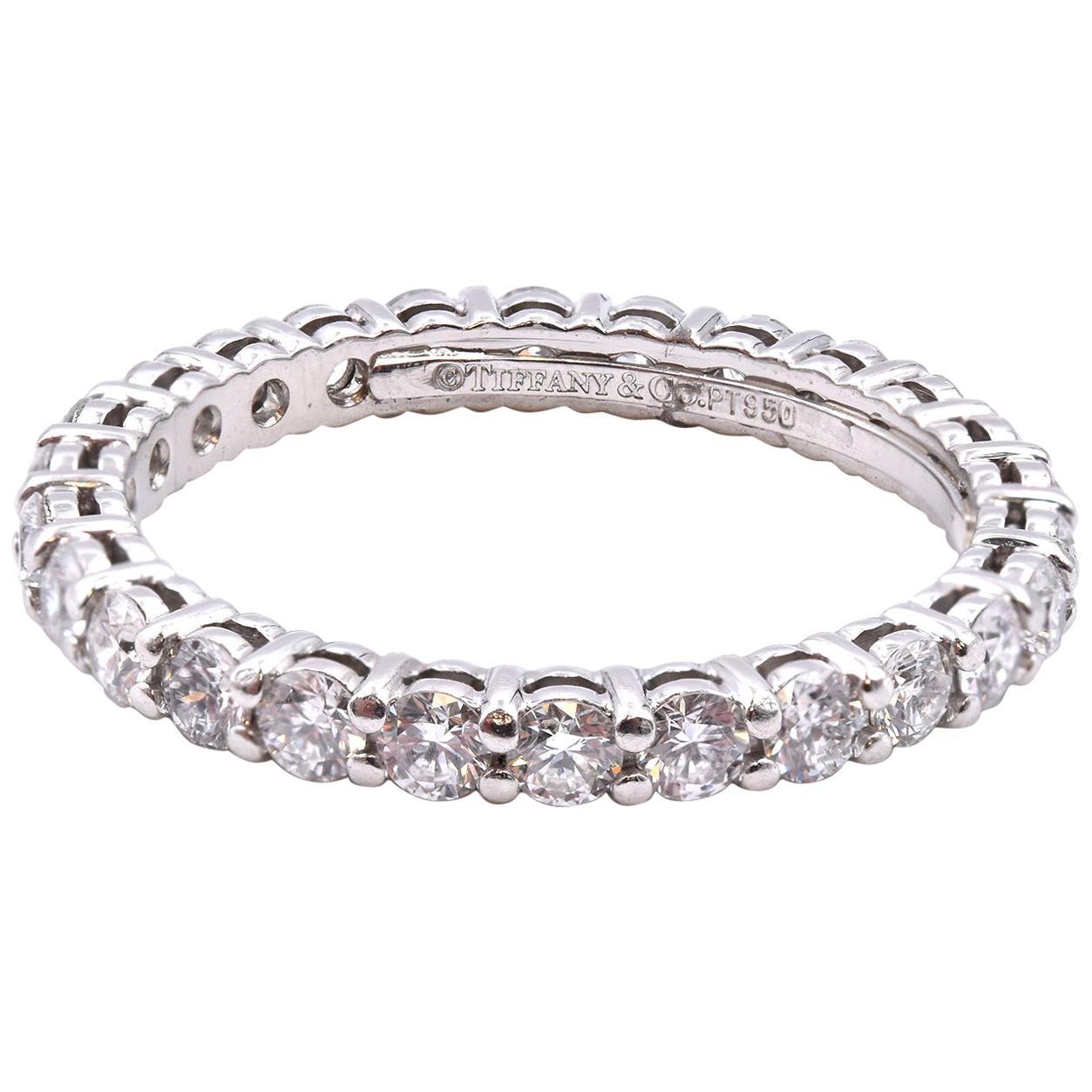 Tiffany & Co. Platinum Diamond Eternity Band