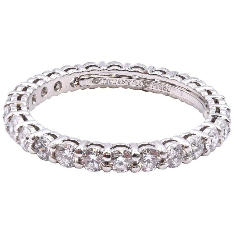 Tiffany & Co. Platinum Diamond Eternity Band For Sale