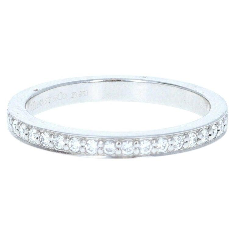 Tiffany & Co Platinum & Diamond Eternity Band For Sale