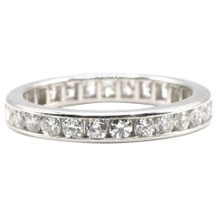 Tiffany & Co. Platinum Diamond Eternity Wedding Band Ring
