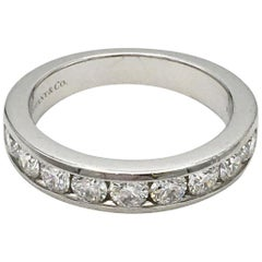 Tiffany & Co. Platinum Diamond Half-Band
