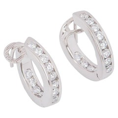 Tiffany & Co. Platinum Diamond Hoop Earrings