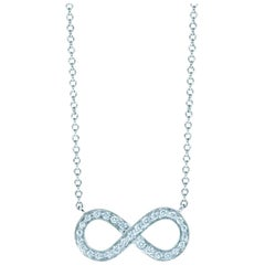 Tiffany & Co. Platinum Diamond Infinity Symbol Pendant Necklace