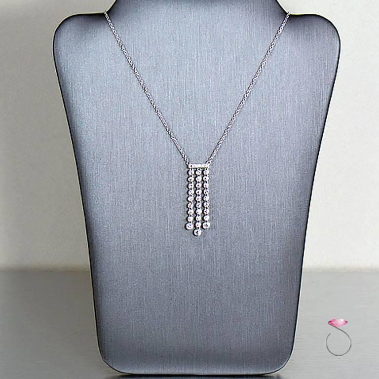 883227c2ab97b Tiffany & Co. Platinum Diamond Necklace 0.62 Carat Jazz, Triple Drop