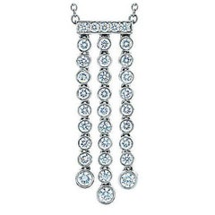 Tiffany & Co. Platinum Diamond Necklace 0.62 Carat Jazz, Triple Drop