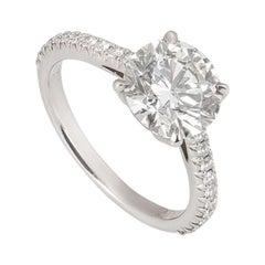 Tiffany & Co. Platinum Diamond Novo Ring 1.72 Carat