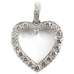 Tiffany & Co. Platinum Diamond Open Heart Pendant .65 Carat