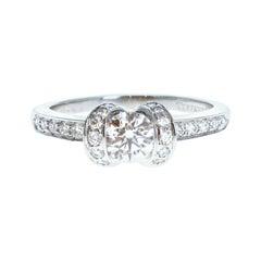 Tiffany & Co. Platinum & Diamond Ribbon Ring 0.76ctw F VVS2