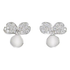 Tiffany & Co. Platinum Diamond Set Paper Flowers Earrings