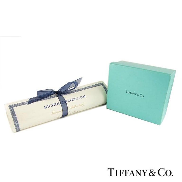 Women's Tiffany & Co. Platinum Diamond Set Star Necklace .53 Carat For Sale
