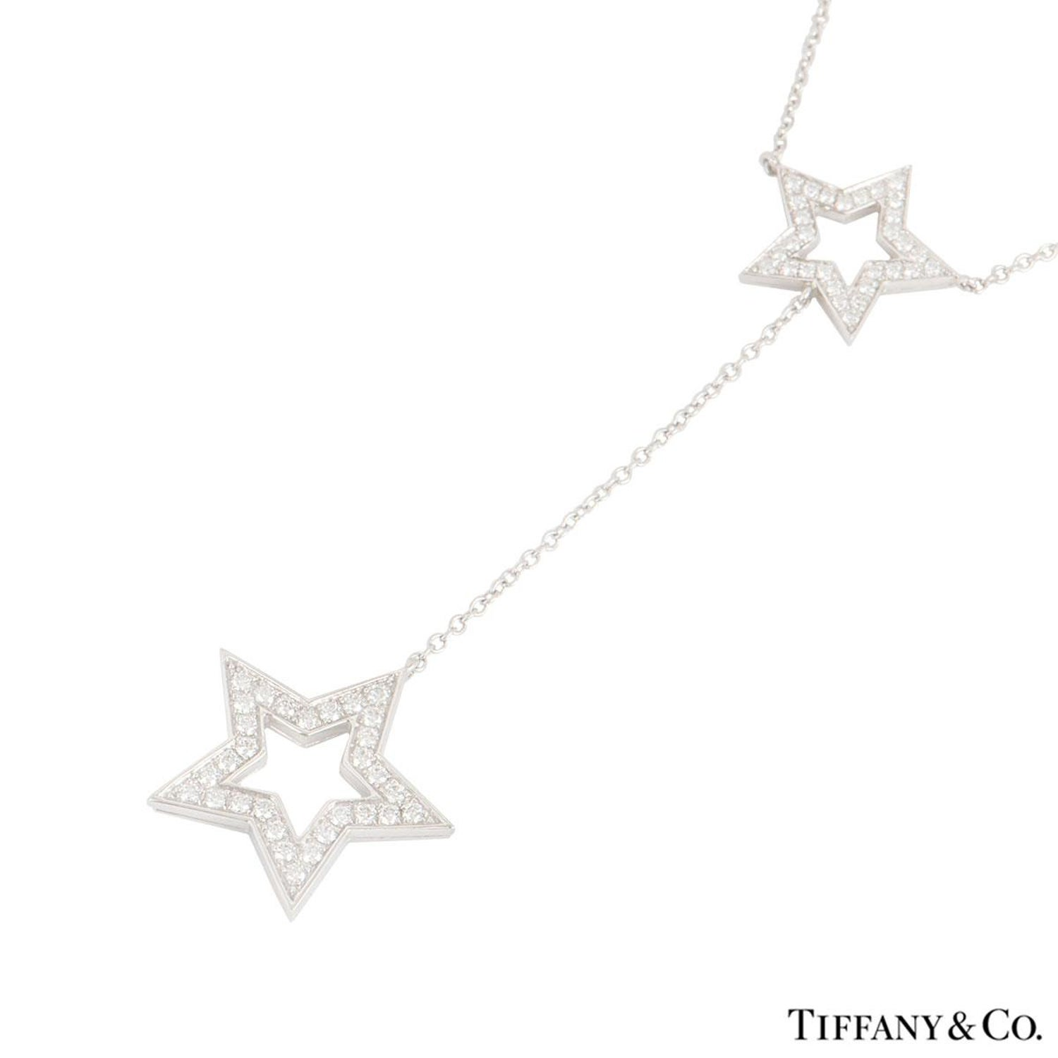 fa4b3bda3 Tiffany and Co. Platinum Diamond Set Star Necklace For Sale at 1stdibs