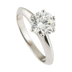 Tiffany & Co. Platinum Diamond Setting Engagement Ring 1.01 Carat