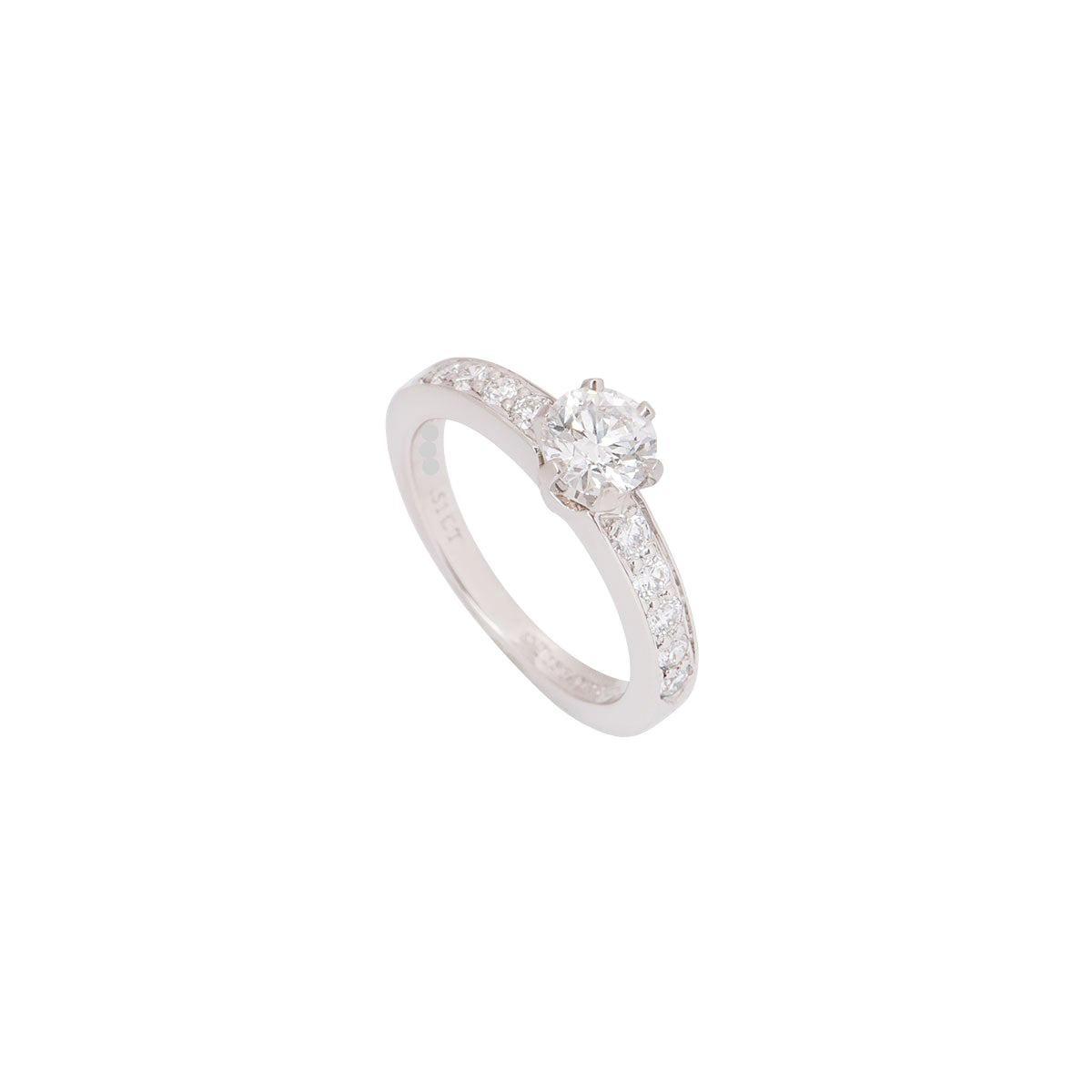 Tiffany & Co. Platinum Diamond Setting Ring 0.51 Carat