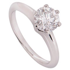 Tiffany & Co. Platinum Diamond Setting Ring 1.04 Carat