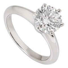 Tiffany & Co. Platinum Diamond Setting Ring 1.53 Carat