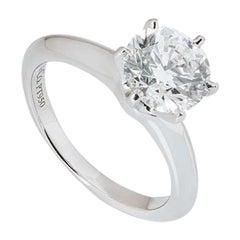 Tiffany & Co. Platinum Diamond Setting Ring 1.72 Carat