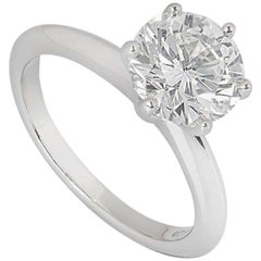 Tiffany & Co. Platinum Diamond Setting Ring 2.12 Carat G/VS1 GIA Certified