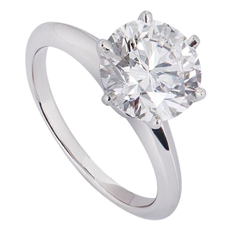 Tiffany And Co Platinum Diamond Setting Ring 2 17 Carat For Sale At 1stdibs