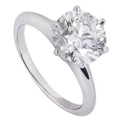 Tiffany & Co. Platinum Diamond Setting Ring 2.17 Carat
