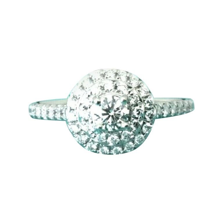 6d9644b5178 Tiffany & Co. Platinum Diamond Soleste Engagement Ring .43 Total Carat  Weight