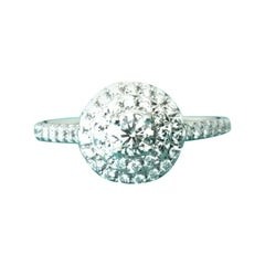 Tiffany & Co. Platinum Diamond Soleste Engagement Ring .43 Total Carat Weight