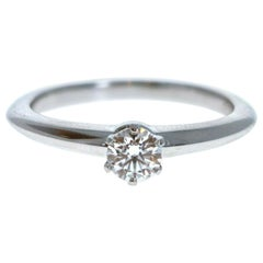 Tiffany & Co. Platinum & Diamond Solitaire Ring 0.25Ctw