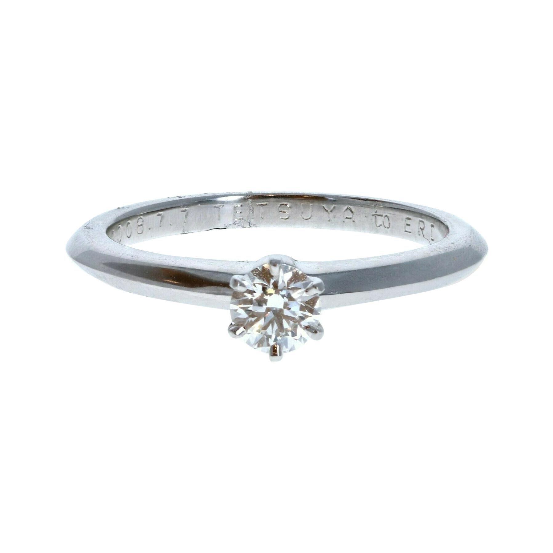 Tiffany & Co Platinum & Diamond Solitaire Ring 0.29ctw