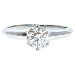 Tiffany & Co. Platinum & Diamond Solitaire Ring 0.71ctw H VVS