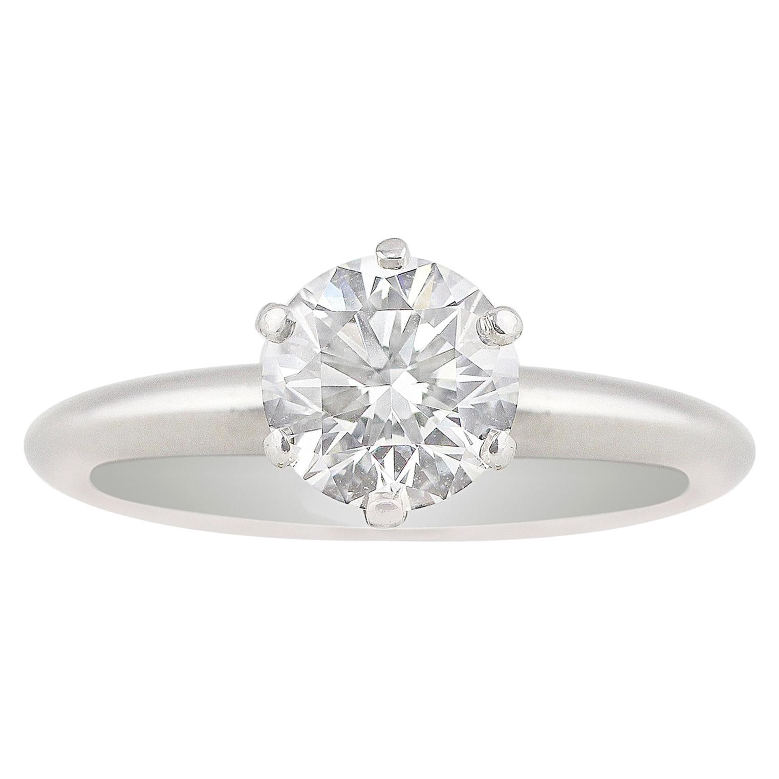 Tiffany & Co. Platinum Diamond Solitaire Ring GIA Certified