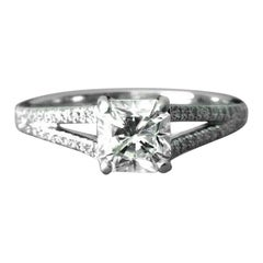Tiffany & Co. Platinum Diamond Split Shank Engagement Ring .76 Carat G VS1