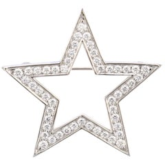Tiffany & Co. Platinum Diamond Star Brooch