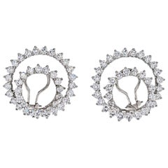 Tiffany & Co. Platinum Diamond Swirls Earrings