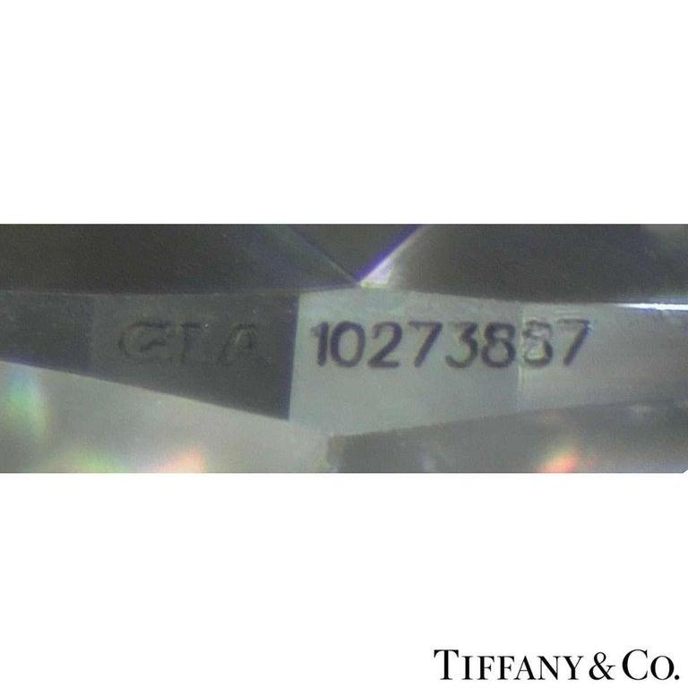 Tiffany & Co. Platinum Diamond Three-Stone Ring 2.36 Carat GIA Certified 2