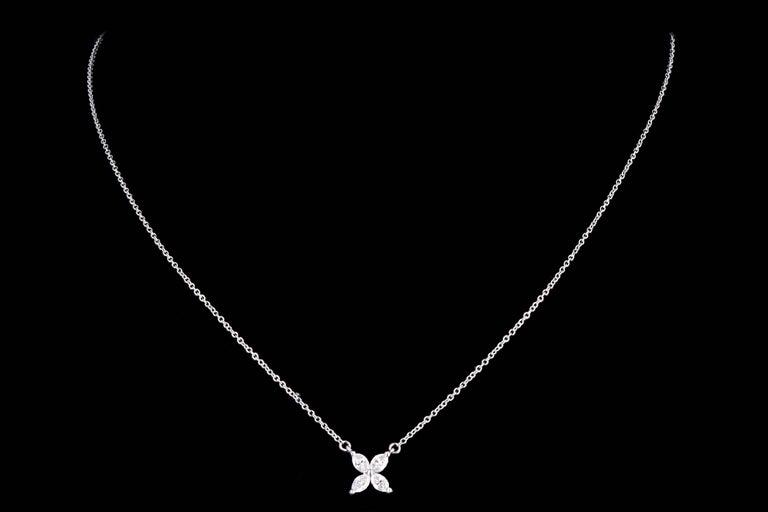 Women's Tiffany & Co. Platinum Diamond Victoria Pendant Necklace For Sale