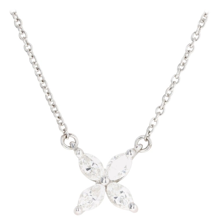 Tiffany & Co. Platinum Diamond Victoria Pendant Necklace For Sale