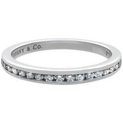 Tiffany & Co. Platinum Diamond Wedding Band Ring 0.17 Carat
