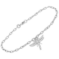 Tiffany & Co. Platinum Dragonfly Diamond Link Bracelet