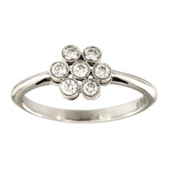 Tiffany & Co. Platinum Enchant Diamond Flower Ring