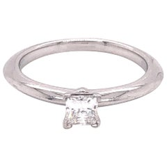 Tiffany & Co. Platinum Engagement Ring .23 Carat Internally Flawless