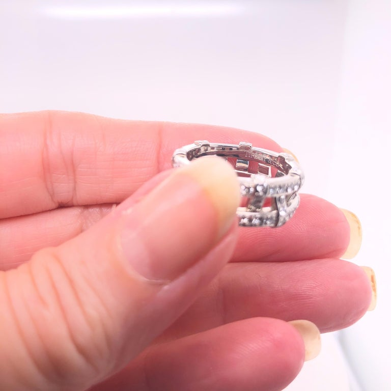 Modern Tiffany & Co. Platinum Eternity Diamond Ring For Sale