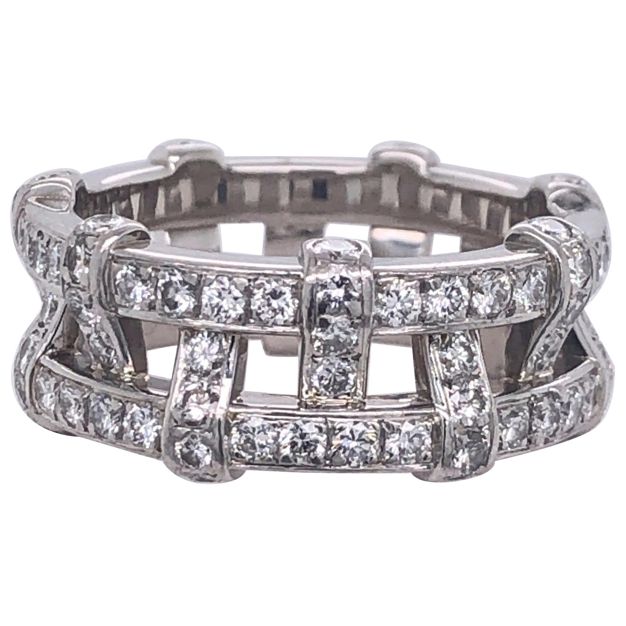 Tiffany & Co. Platinum Eternity Diamond Ring