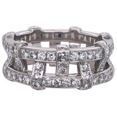 Tiffany & Co. Platinum Eternity Diamond Ring