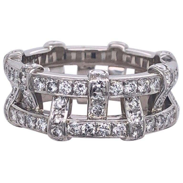 Tiffany & Co. Platinum Eternity Diamond Ring For Sale