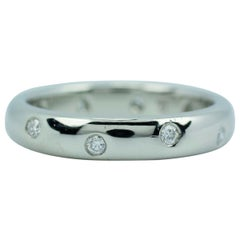 Tiffany & Co. Platinum Etoile Band Ring with Diamonds