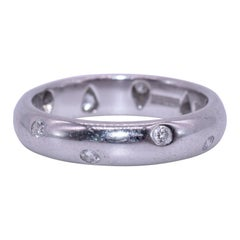 Tiffany & Co. Platinum Etoile Diamond Band