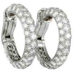 Tiffany & Co. Platinum Full Diamond Pave Small Clip-On Earrings