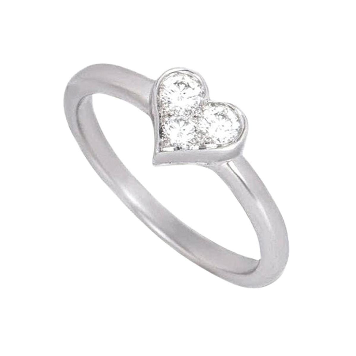 Tiffany & Co. Platinum Hearts Diamond Ring